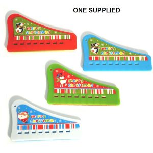 Pan Pipes Music Maker Festive Christmas Design - Assorted Colours (One Supplied)